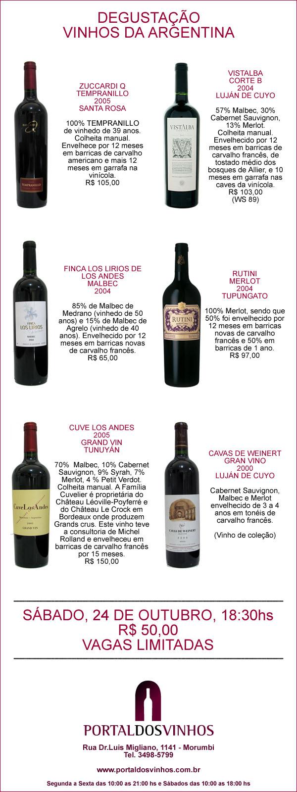 Argentino na Portal dos Vinhos