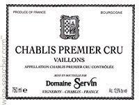 Domaine Servin Vaillons Premier Crus Chablis Label