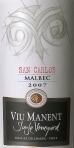 Viu Viu Manent_Single Vineyard Malbec San Carlos Bottle