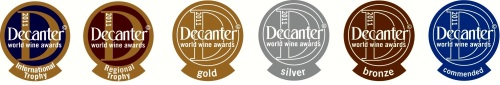 Decanter medals