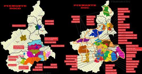 Piemonte Map Clipboard