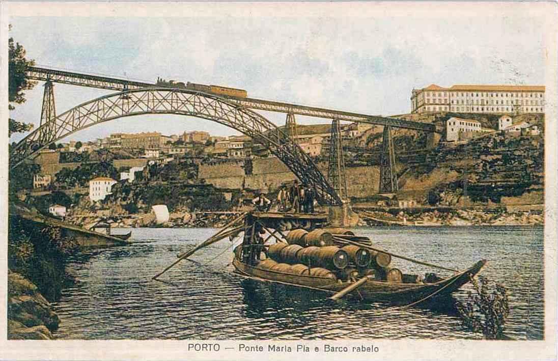 109090-Porto-Ponte Maria Pia e barco rabelo